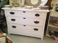 White 3 drawer bureau