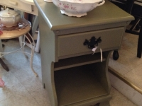 Vintage green night stand