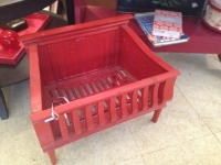 Red fireplace insert - vintage