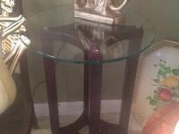 Modern glass top table