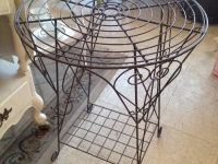 vintage iron table