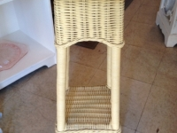 yellow-wicker-plant-stand